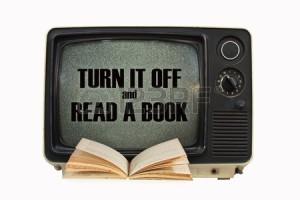 tv uitzetten en boek lezen